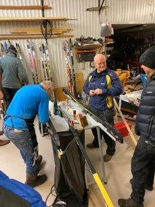 Jan Flodin vallade skidor åt oss i Hestra IF
