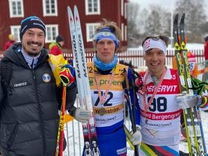 Erik Melin Söderström (som nyligen var med på P1 i ett program om snölagring), jag och Rickard Bergengren