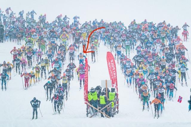 Starten Vasaloppet 2020. Foto: Magnus Östh