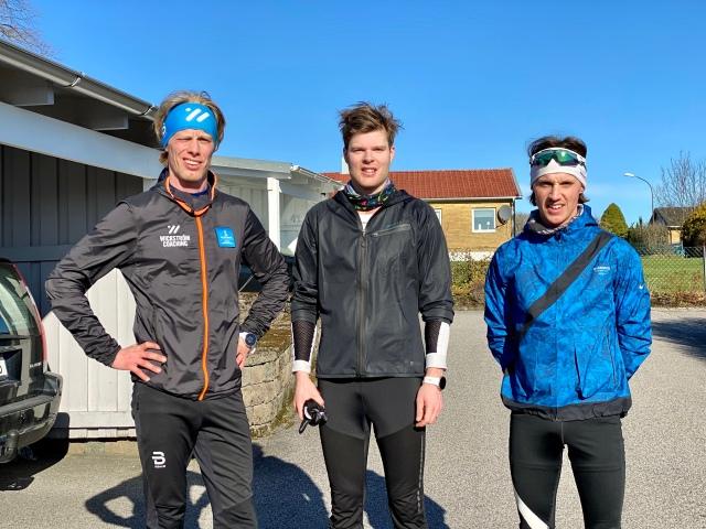 Simon Grenlöv och Jakob Böhm efter avslutat löppass.