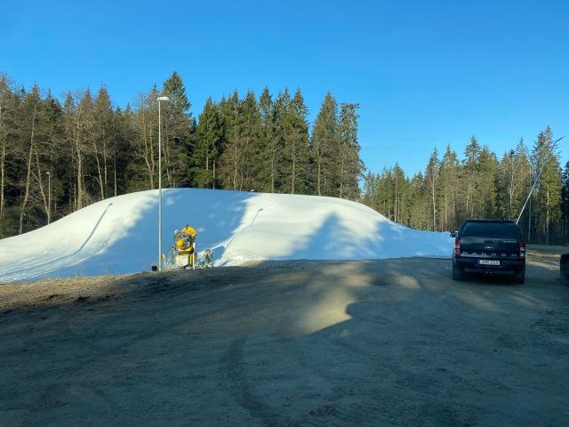Borås snöhög som sparas till SM-veckan 2021