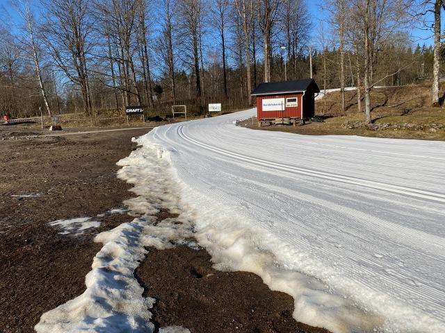 Borås skidstadion 26 mars 2020