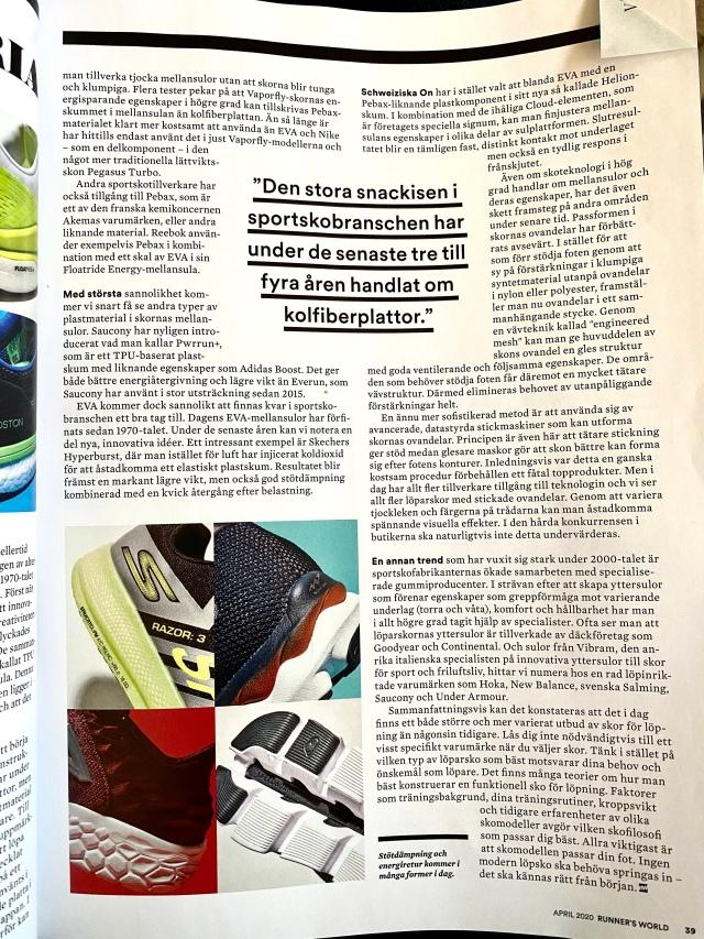 Löpskons historia (särskilt om mellansulan) från Runners World.