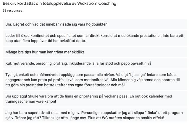 Recension Wickström Coaching