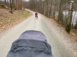 Grusväg är min favorit när jag springer med löparvagn