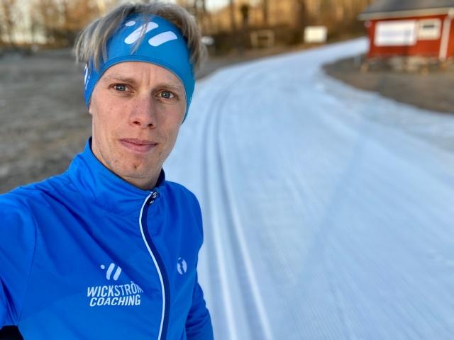 Wickström Coaching-kläder på Borås skidstadion i veckan