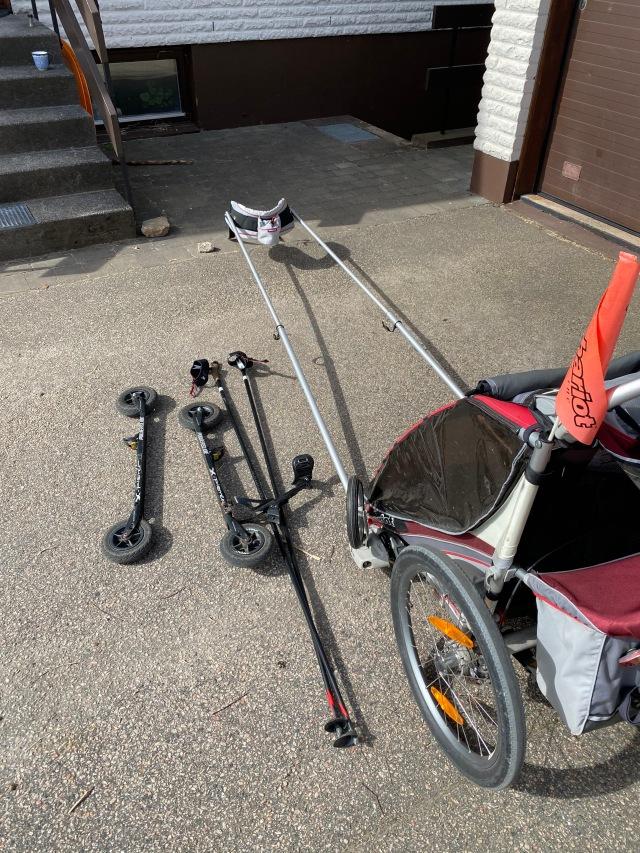 Rullskidåkning med Chariot multivagn