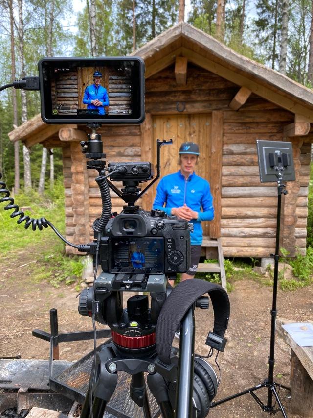 Filminspelning vid Källeberg i Sjömarken