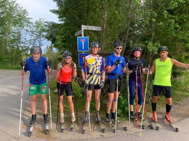Hestra IF rullskidträning i Ebbaredsbacken. Foto: Daniel Åkerberg.