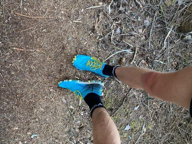 Hoka One One Eva Jawz. Tunna Hoka-skor. Jag gillar dem på stig. Hade dem bl a på Rya Åsar Trail Run.