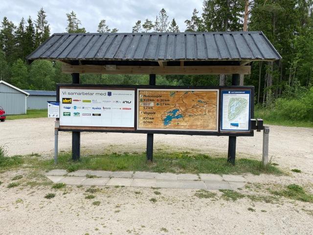 Informationstavla vid Storsjögården i Rydbolholm