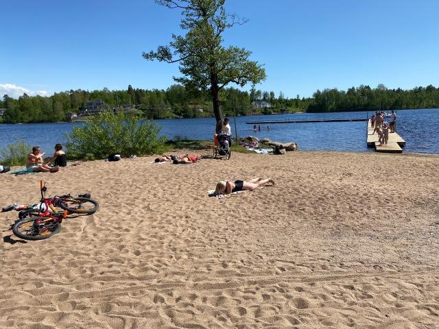 Sjömarkenbadet. Badplatsen i Sjömarken.