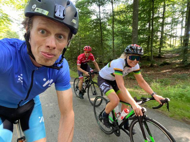 Cykling med Susanne och Adam Stenman
