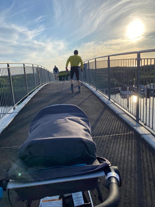 Cykelbron i Skäldervikens hamn