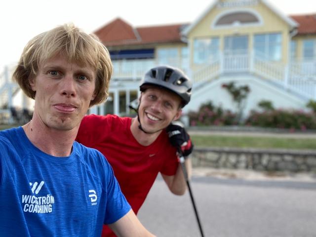 Martin Josefsson och jag vid Klitterhus
