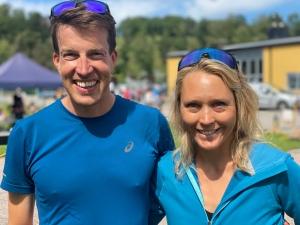 Det har varit kul att lära känna Susanne och Adam Stenman lite grann denna sommar. De kör för Terrible Tuesdays. Adam sprang 17 km efter att ha dundrat in 4 st 2 km-intervaller dagen innan samt cyklat på morgonen.