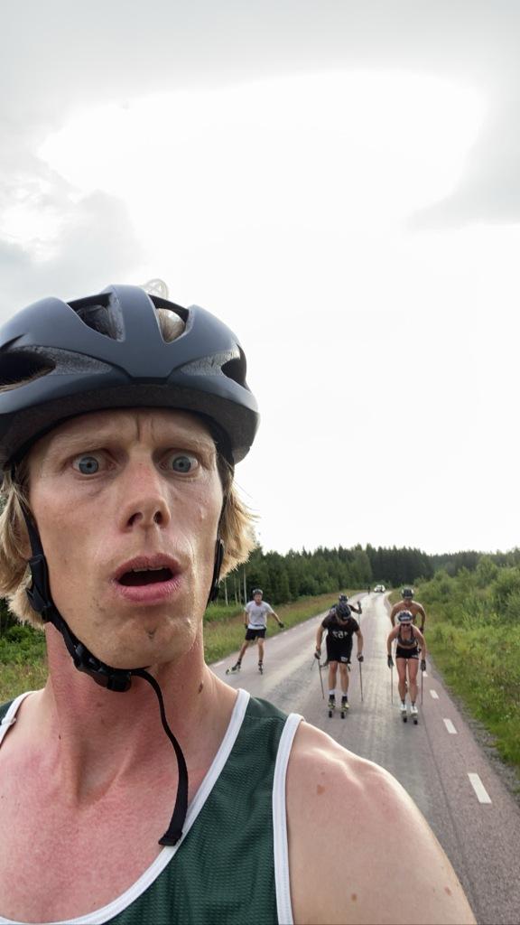 Rullskidåkning med Lager 157 Ski Team mellan Kroken och Hössna
