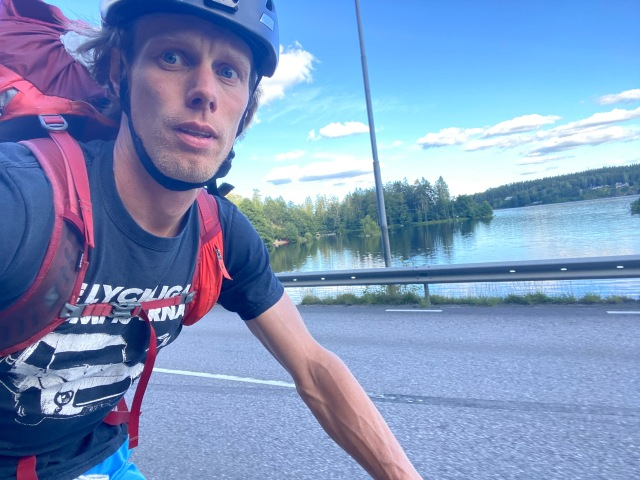 Cykling vid Viaredssjön
