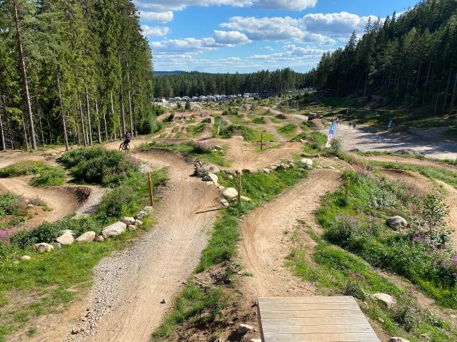 Ovanifrån i bikeparken på Isaberg