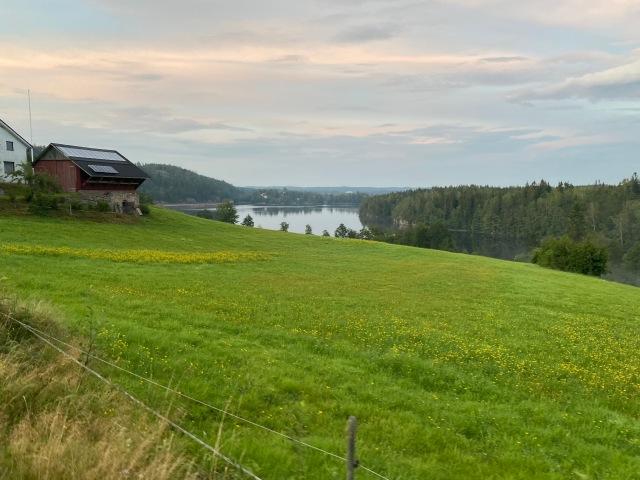 Strax söder om Hultafors med utsikt över Viaredssjön.