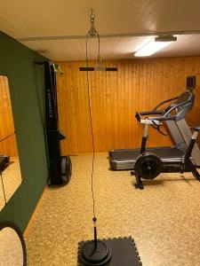 Ny leksak i atletklubb, alltså hemmagymmet i källaren