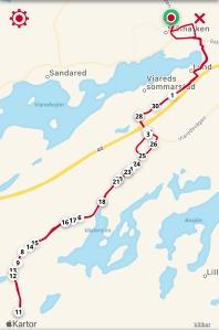Rullskidintervaller på Viared och på Segloravägen