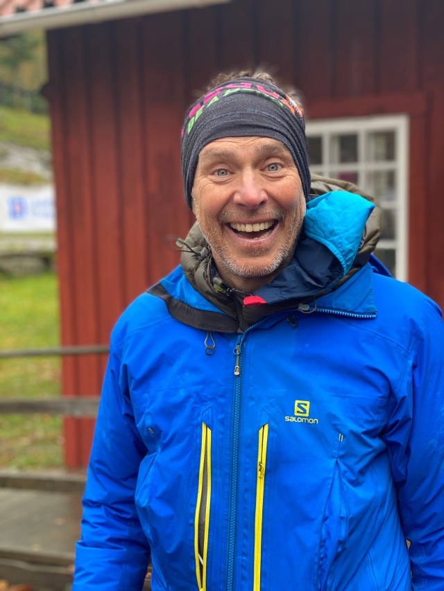 """Erik Ahlström från Salomon var på plats. Numer kanske mest känd som initiativtagaren bakom """"rörelsen"""" Plogga."""