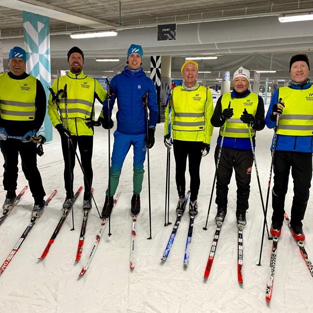 Skidlektion i Skidome. Teknikträning.