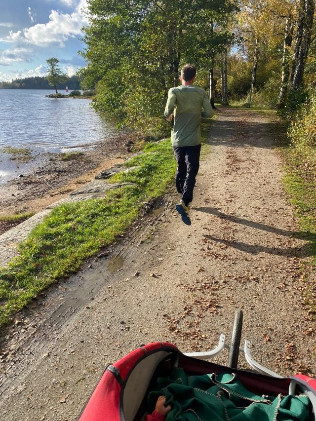 Barnvagnslöpning med Charioten med Dan Sundström vid Viaredssjön i Sjömarken