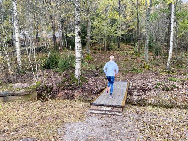 Annelie Johansson ska springa 42 km i Höstmaran och testade både bron och hela varvet i förra veckan