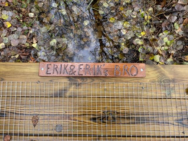 Erik och Eriks bro nära Sjömarkens idrottsgård som kommer att användas på Höstmaran