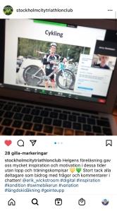 Virtuell föreläsning med Stockholm City triathlon