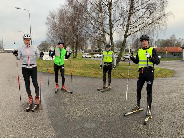 Adam Blomberg, Johan Kanto, Tommy Bylund och jag på Viared
