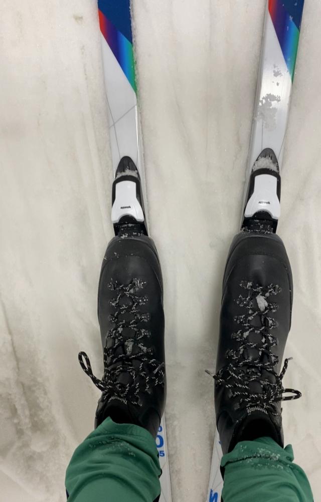 Backcountry-skidorna Fjelltech från Madhus med päls och stålkant gick fint i Skidome