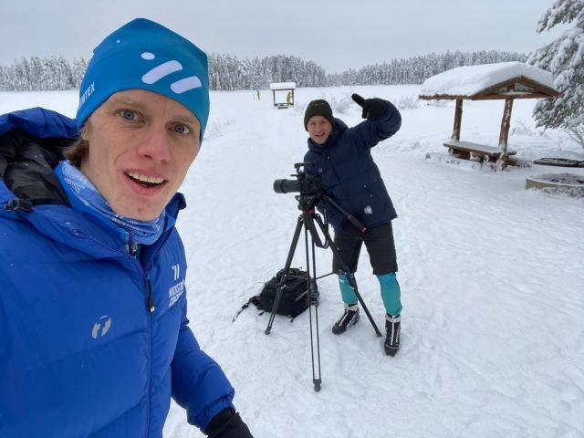 """Filminspelning för adepternas filmrum på Wickström Coachings sajt samt """"promo-film"""" inför nästa säsong. Jojje Borssén bakom kameran, jag framför."""
