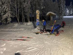 Skidtester före start. Jag glidtestade ihop med Henrik Litzell och Kristian Olofsson