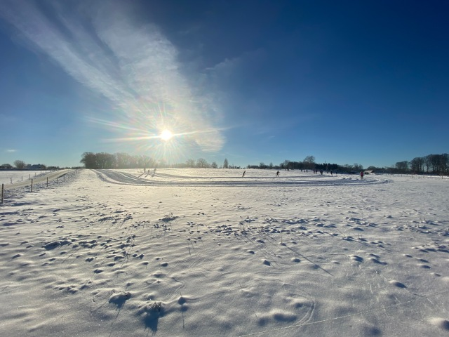 Skidåkning i Hulebäcksröd i Skåne på Hallandsåsen