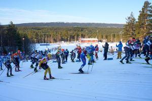 Starten i Vasaloppet 2021. Foto: Magnus Östh.