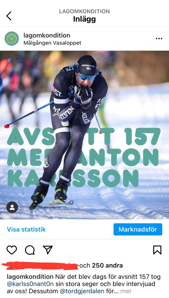 Intervju med Anton Karlsson i podcasten Lagom Kondition. Foto: Magnus Östh.