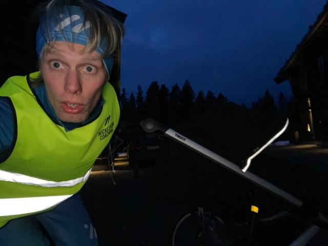 Läggningslöpning. Löpning med barnvagn i Lofsdalen.