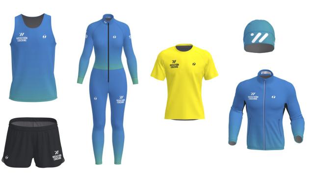 Några av kläderna adepterna i Wickström Coaching kan beställa.