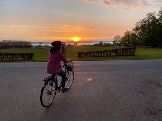 Solnedgång på Visingsö