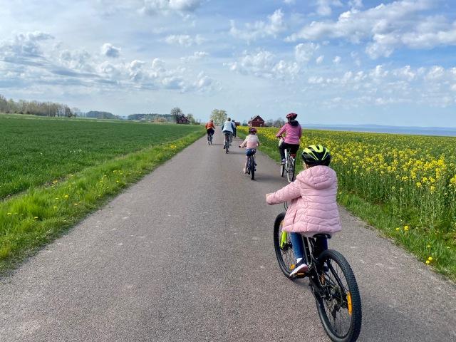 Cykling med barn på Visingsö