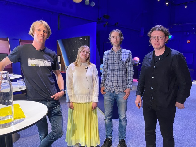 Erik Wickström, Sara Karlén, Daniel Svensson och Stefan Andréasson