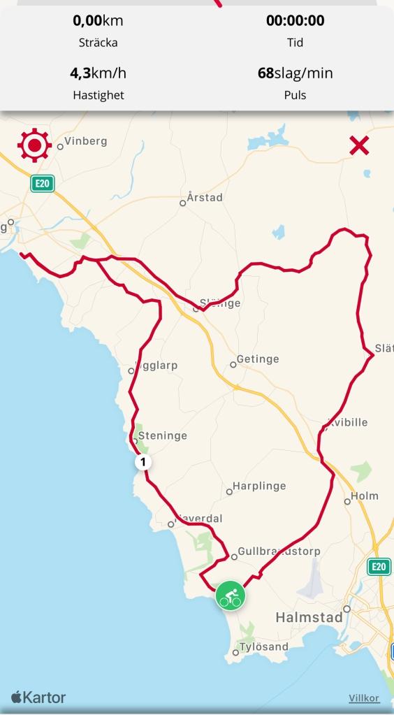 Cykeltur i Halland