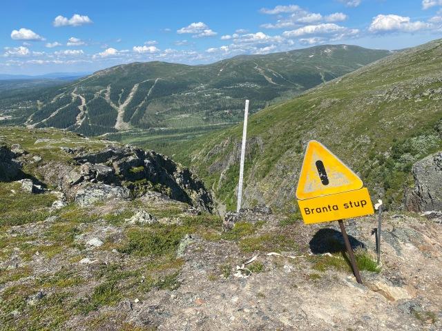 Ovanför Dromskåran. Utsikt över Bydalens slalombackar.