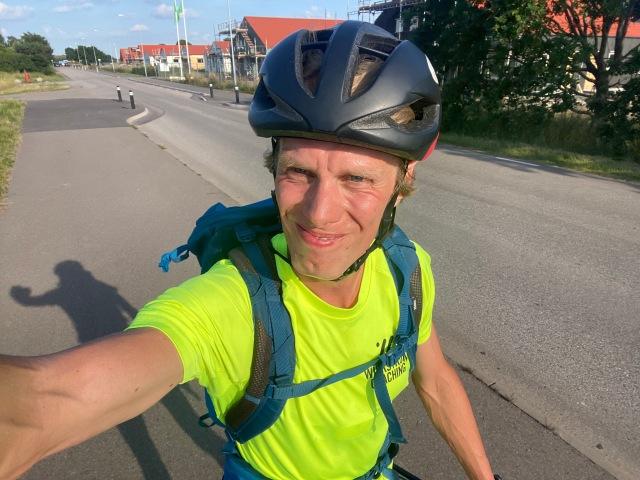 På väg hem från Lilla Hult i Skepparkroken där jag hämtade padelrack hos postombudet.
