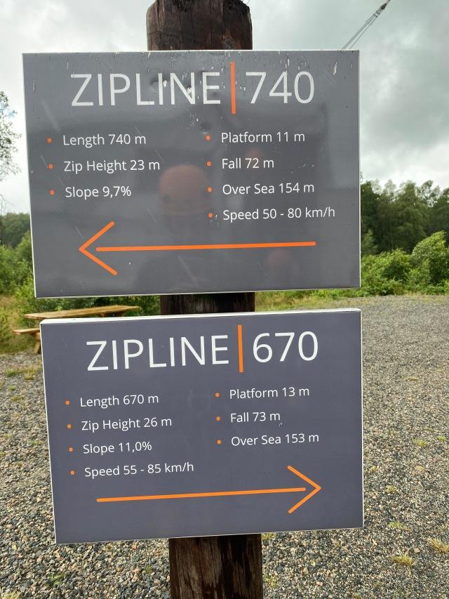 Rejäl zipline på Kungsbygget med 72 meters fallhöjd.
